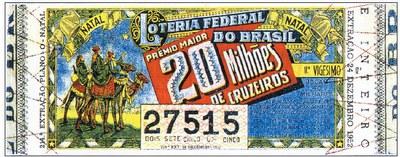 A maior extração da Loteria Federal em 1952