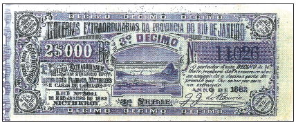 As loterias extraordinárias da  Província do Rio de Janeiro