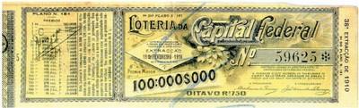 A loteria da Capital Federal de 19 de fevereiro de 1910