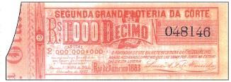 A segunda grande loteria da Corte de 1883