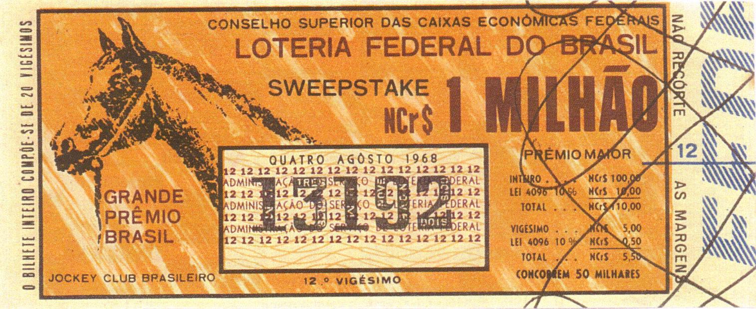 Extração sweepstake-196808 - Sweepstake - Grande Prêmio Brasil