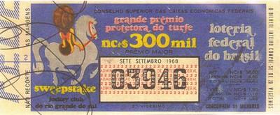 Extração sweepstake-196809 - Sweepstake - Grande Prêmio Protetora do Turfe