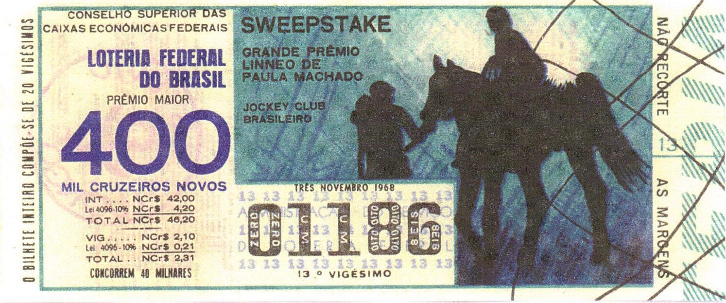 Extração sweepstake-196811 - Sweepstake - Grande Prêmio Lineo de Paula Machado