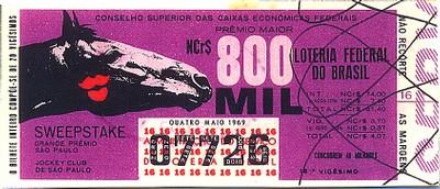 Extração 19690504 - Sweepstake - Grande Prêmio São Paulo - Jockey Club de São Paulo