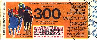 Extração 19691019 - Sweepstake - Grande Prêmio - Jockey Club do Paraná