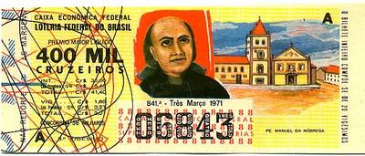 Extração 0841 -  Pe. Manuel da Nóbrega.