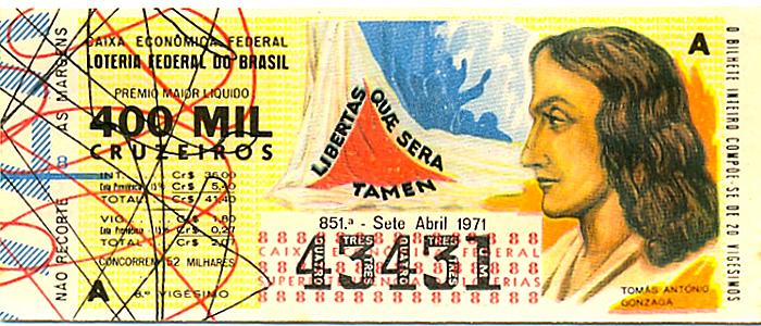 Extração 0851 -  Tomás Antônio Gonzaga.
