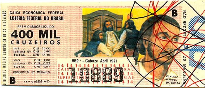 Extração 0852 -  Cláudio Manuel da Costa.