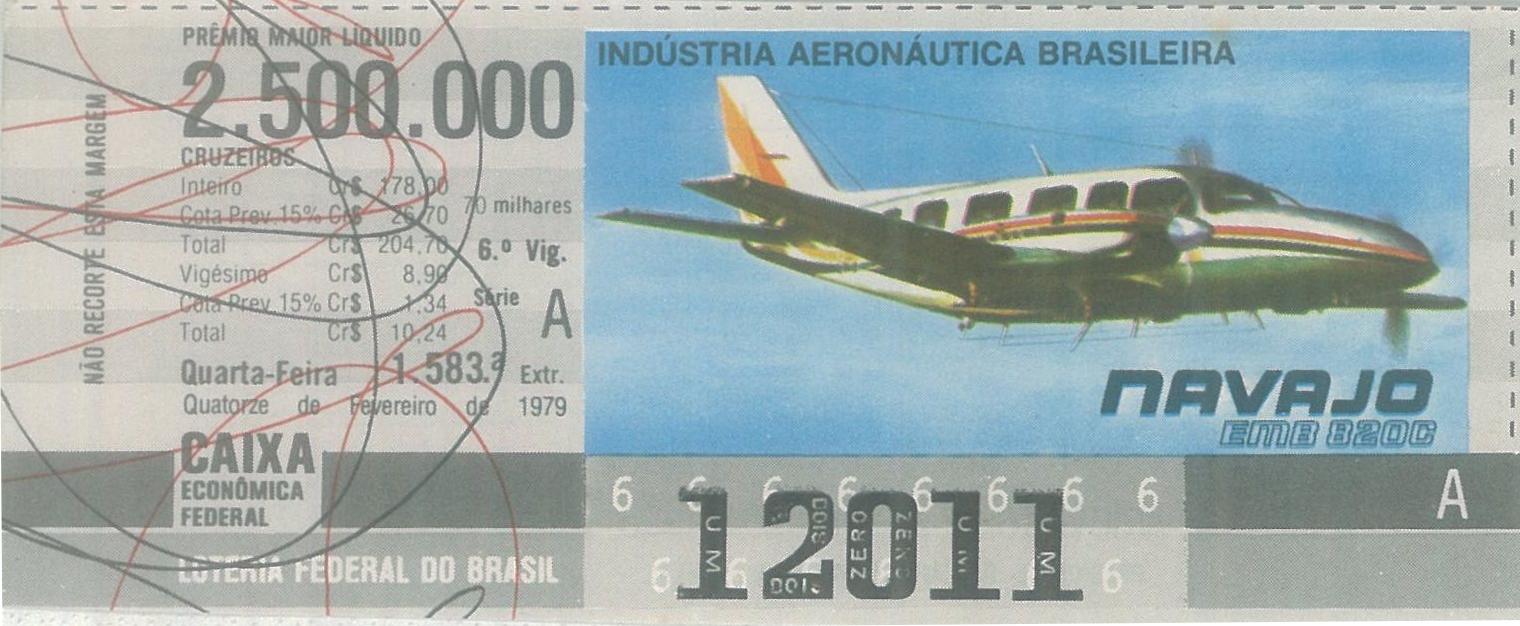 Extração 1583 - Indústria Aeronática Brasileira - Navajo - EMB 820C