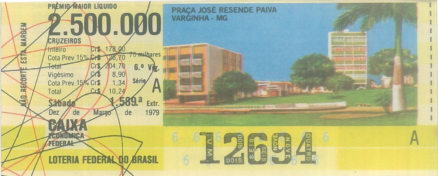 Extração 1589 - Praça José Resende Paiva - Varginha - MG