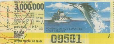 Extração 1643 - Homenagem aos Esportes - Pesca Oceânica